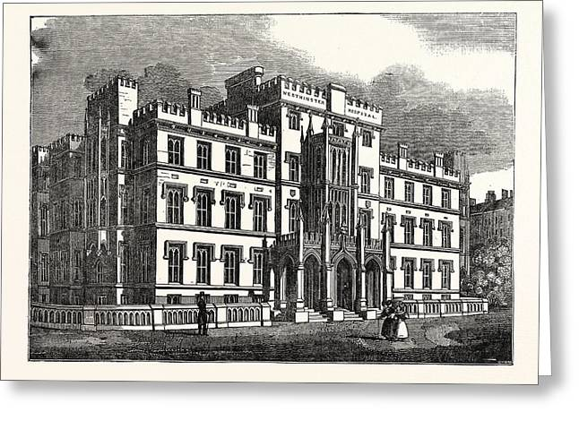 The New Westminster Hospital, London, Uk, Britain Greeting Card by English School