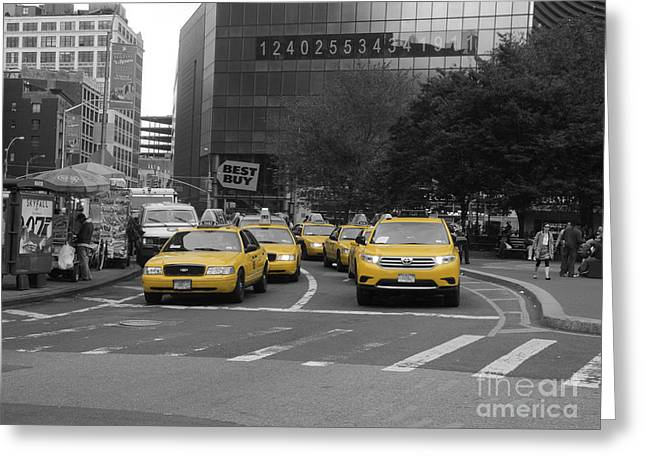 The New York Cabs Greeting Card