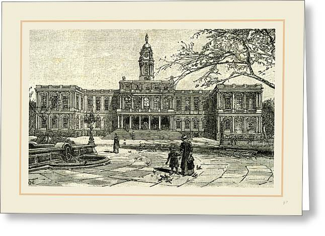 The New York City Hall, 1891 Greeting Card by Liszt collection