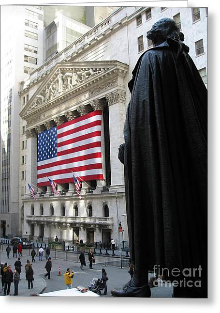 The New York Stock Exchange Greeting Card by RicardMN Photography
