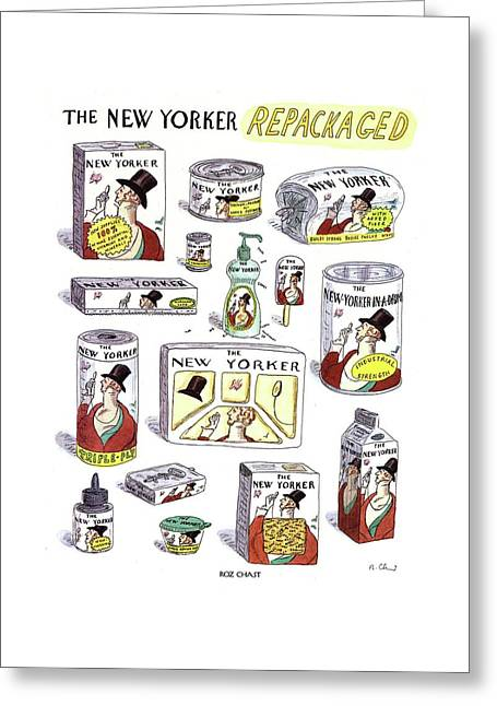 The New Yorker Repackaged Greeting Card