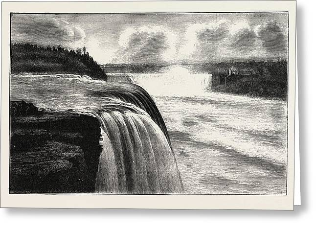 The Niagara Falls, View From Prospect Point Greeting Card by American School