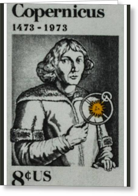 The Nicolaus Copemicus Stamp Greeting Card by Lanjee Chee