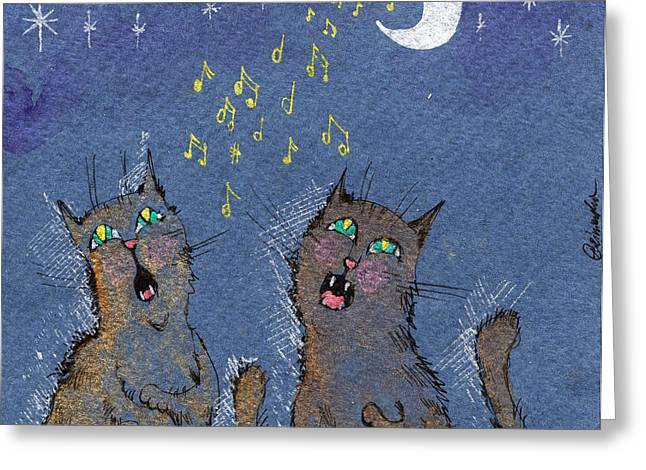 The Night Serenades Greeting Card