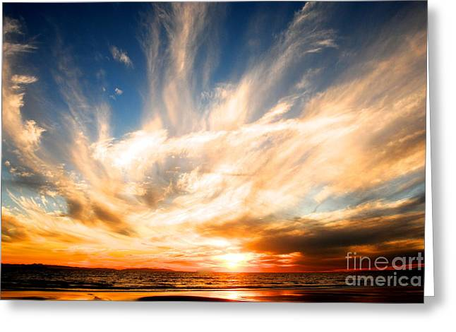 The Night The Sunset Danced Greeting Card