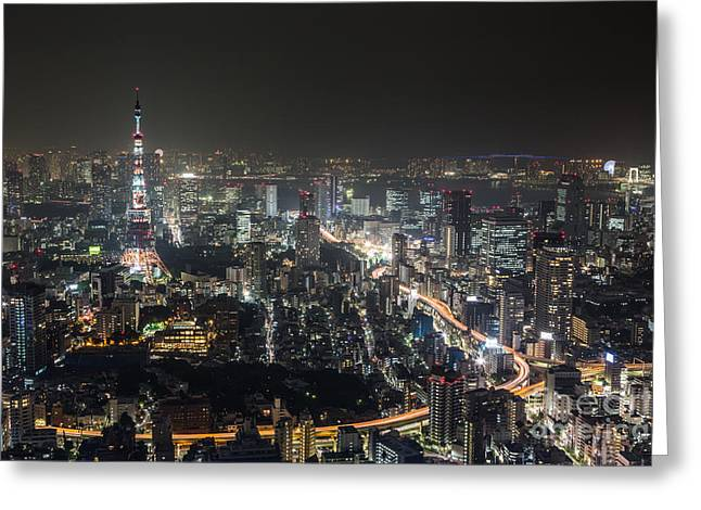 The Nights Of Tokyo Greeting Card