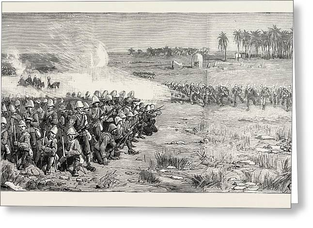 The Nile Expedition  A Sham Fight Between The Camel Corps Greeting Card