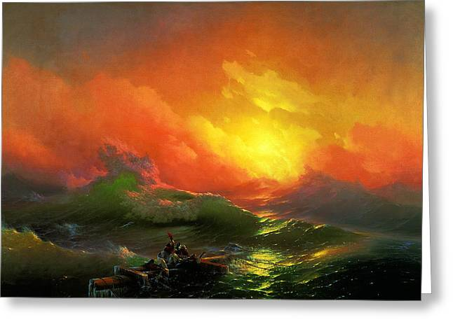 The Ninth Wave Greeting Card by Ivan Konstantinovich Aivazovsky