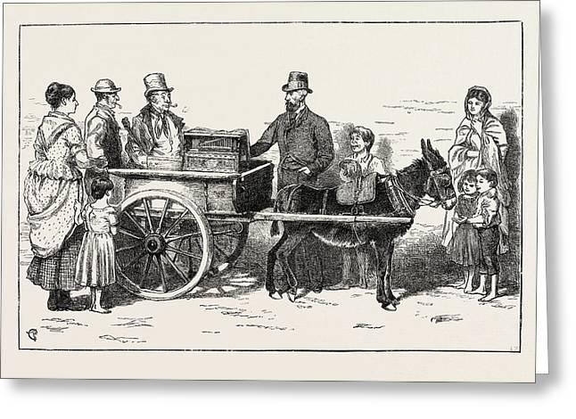The Nobleman Organ Grinder Now On A Tour Through The Irish Greeting Card