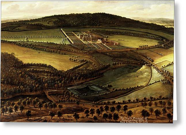 The North Prospect Of Hampton Court, Herefordshire Greeting Card by Litz Collection