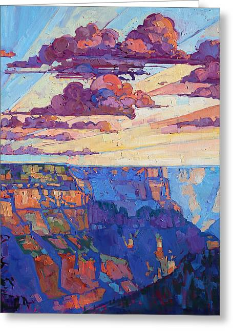 The North Rim Hexaptych - Panel 5 Greeting Card by Erin Hanson