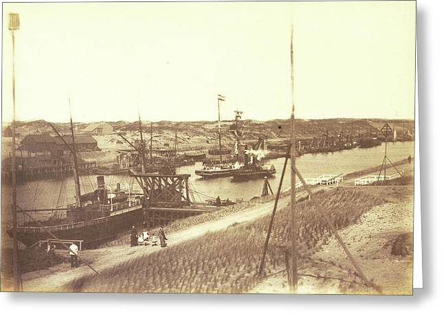 The North Sea Canal At Ijmuiden, Anonymous Greeting Card