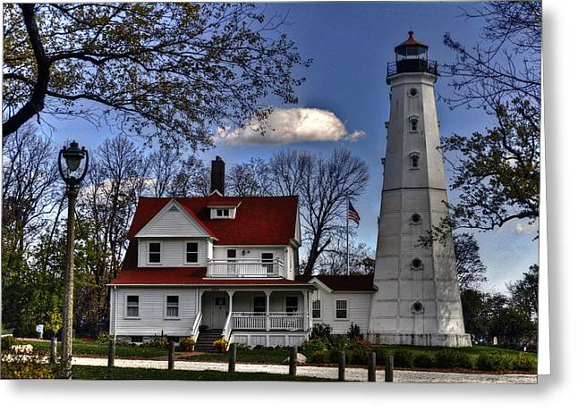 Greeting Card featuring the photograph The Northpoint Lighthouse by Deborah Klubertanz