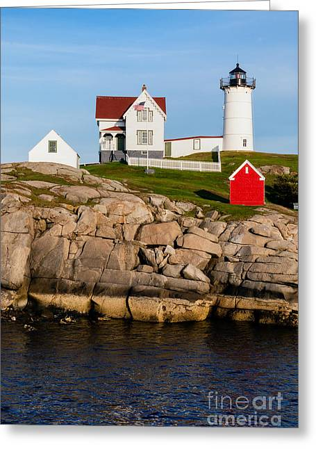 The Nubble York Maine Greeting Card by Dawna  Moore Photography