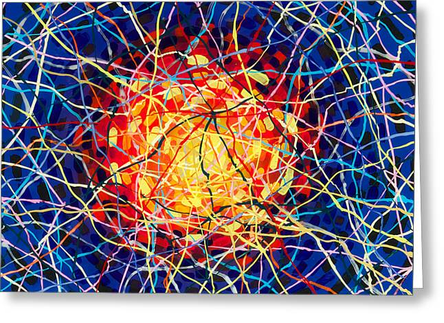 The Nucleus Greeting Card by Patrick OLeary