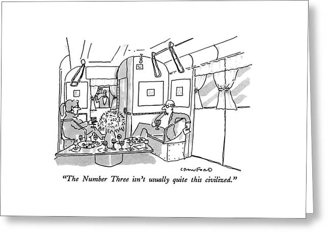 The Number Three Isn't Usually Quite This Greeting Card by Michael Crawford