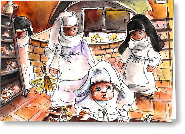 The Nuns Of Toledo 02 Greeting Card