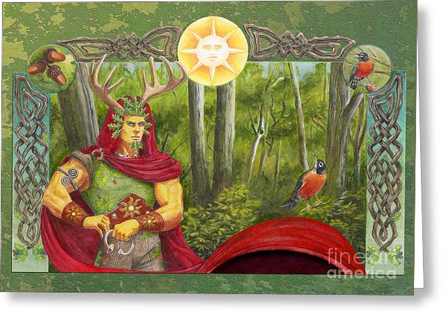 The Oak King Greeting Card by Melissa A Benson
