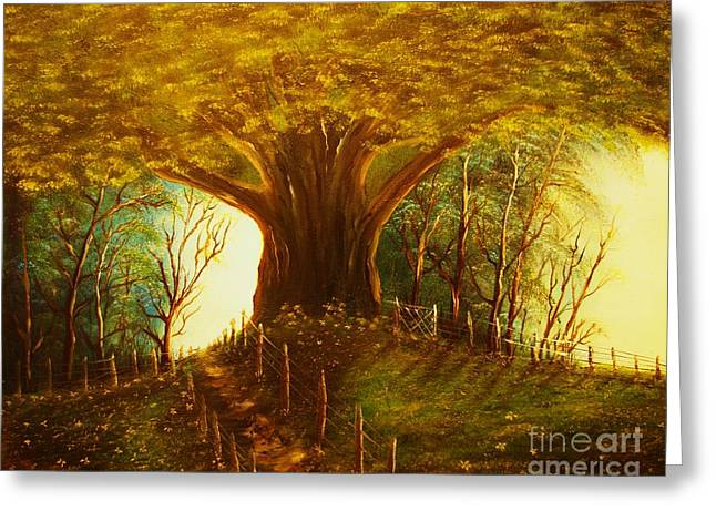 The Oak Tree-original Sold-buy Giclee Print Nr 31 Of Limited Edition Of 40 Prints  Greeting Card