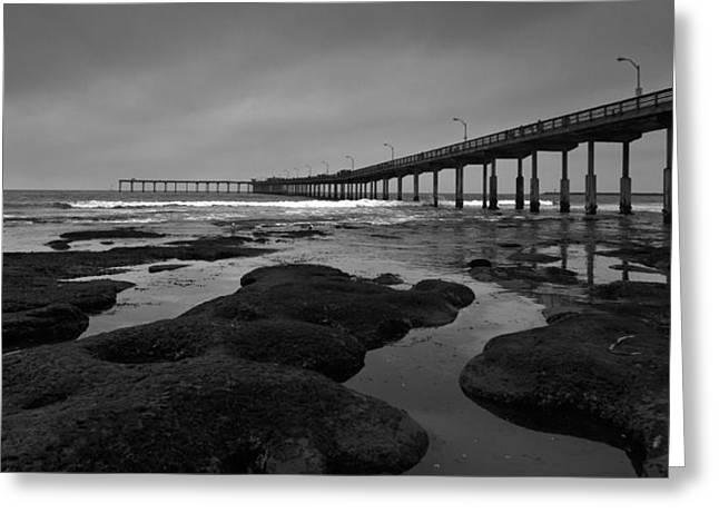 The Ocean Beach Pier Greeting Card by Peter Tellone