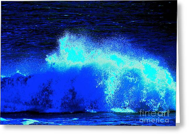 The Ocean Knows Greeting Card by Q's House of Art ArtandFinePhotography