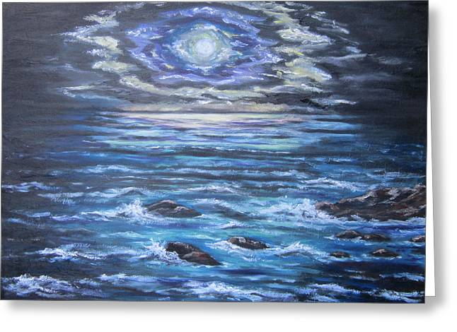 The Ocean Sings The Sky Listens 2 Greeting Card by Cheryl Pettigrew
