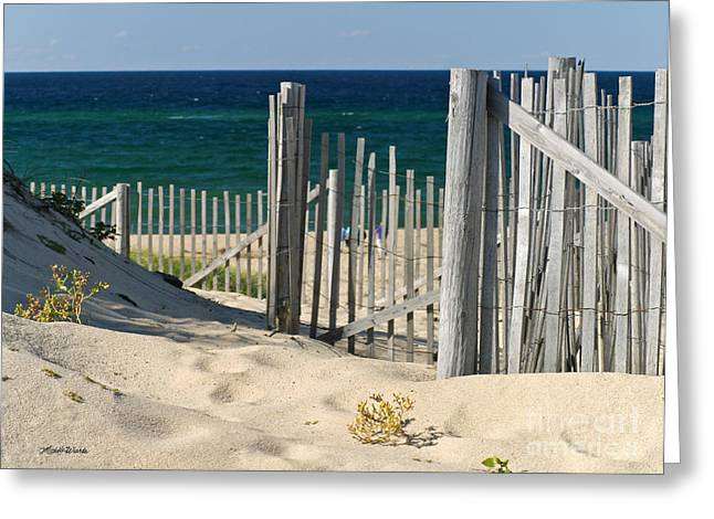 The Oceans Gate Greeting Card by Michelle Wiarda
