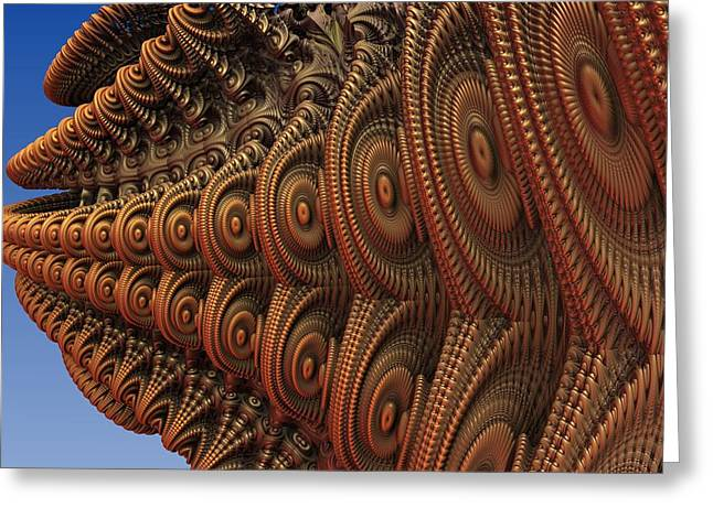 The Odd Beauty Of Fractals Greeting Card by Lyle Hatch