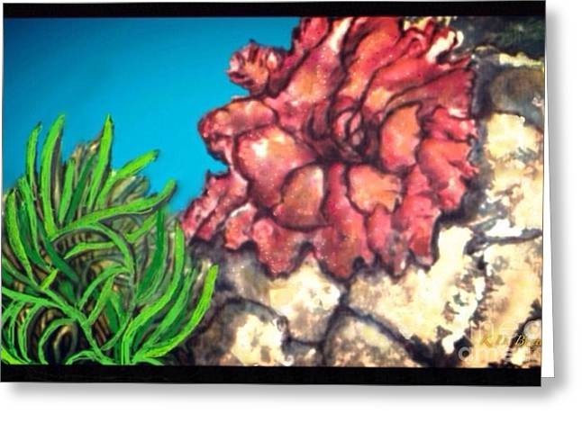 The Odd Couple Two Very Different Sea Anemones Cohabitat Greeting Card by Kimberlee Baxter