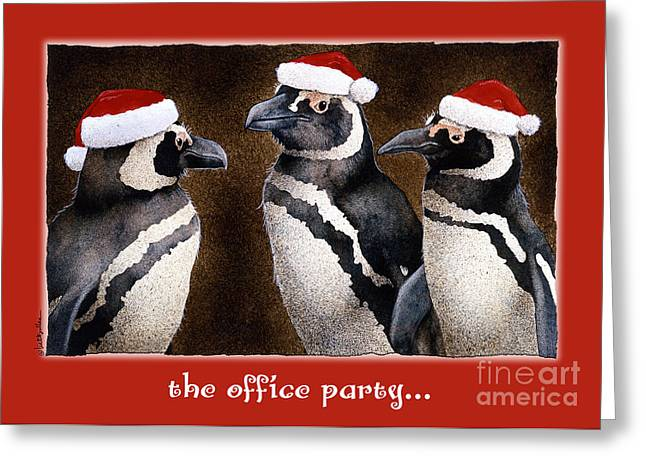 The Office Party... Greeting Card by Will Bullas