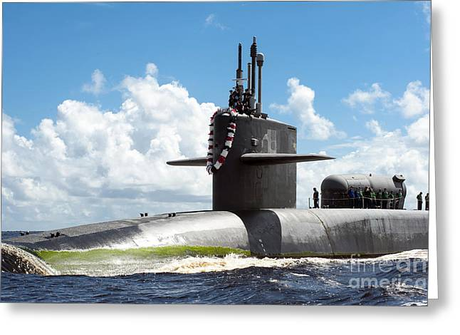 The Ohio-class Guided Missile Submarine Greeting Card by Stocktrek Images
