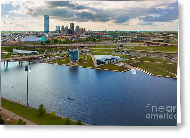 The Oklahoma River Greeting Card by Cooper Ross