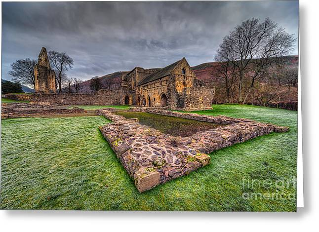 The Old Abbey Greeting Card by Adrian Evans