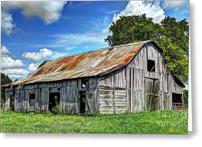 The Old Adkisson Barn Greeting Card by Paul Mashburn