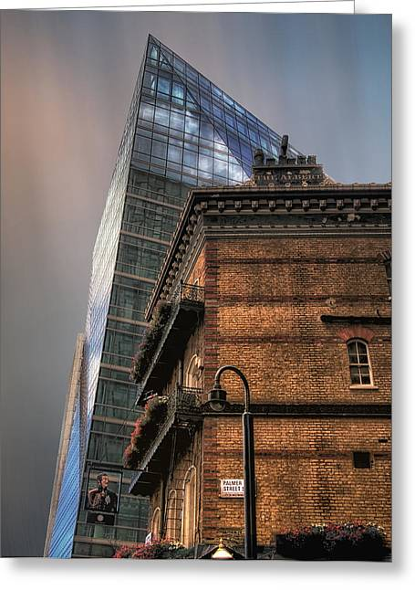 Greeting Card featuring the photograph The Old And The New by Jim Hill