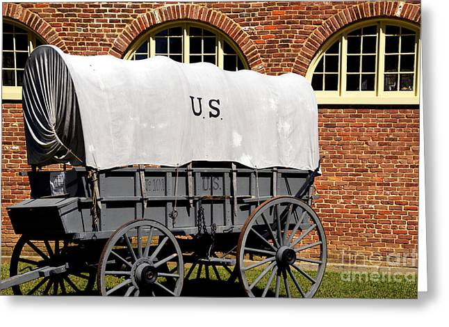 The Old Army Wagon Greeting Card by Paul W Faust -  Impressions of Light