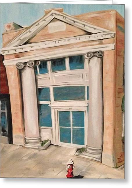 The Old Bank Greeting Card by Alicia Tanner