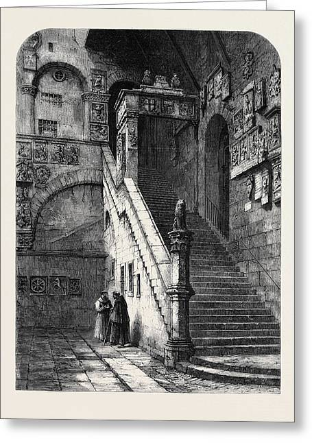 The Old Bargello Florence Greeting Card by English School