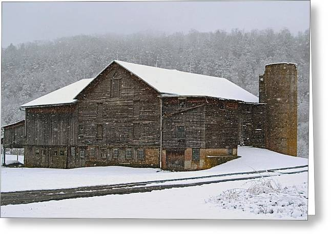 The Old Barn     Faded But Sturdy Greeting Card by Gene Walls