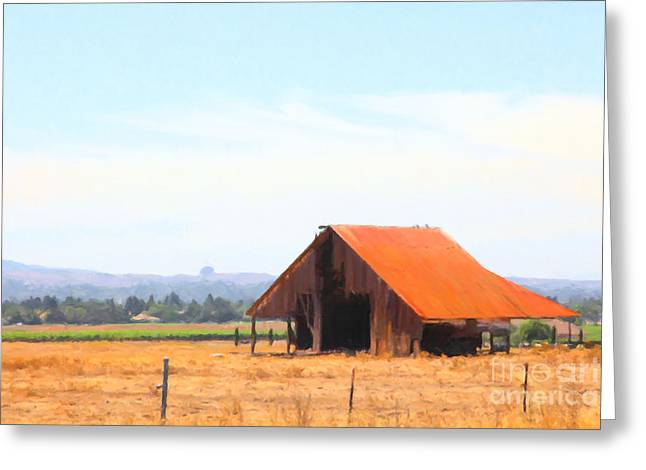 The Old Barn 5d24404 Greeting Card by Wingsdomain Art and Photography