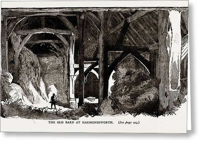 The Old Barn At Harmondsworth, Uk Greeting Card by Litz Collection