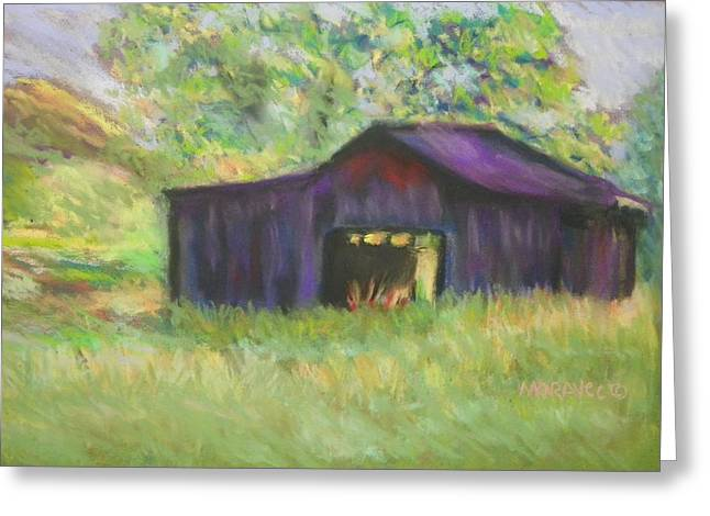 The Old Barn I Greeting Card by Shirley Moravec