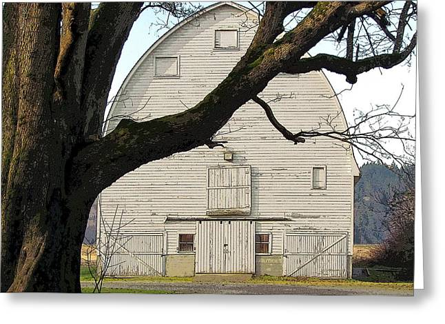 Greeting Card featuring the photograph The Old Barn by I'ina Van Lawick