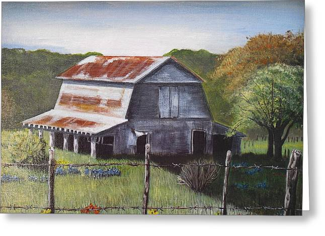 The Old Barn Greeting Card by Melissa Torres