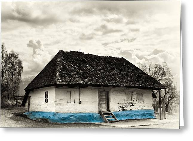 The  Old Blue House -1342  Greeting Card by Dorin Stef