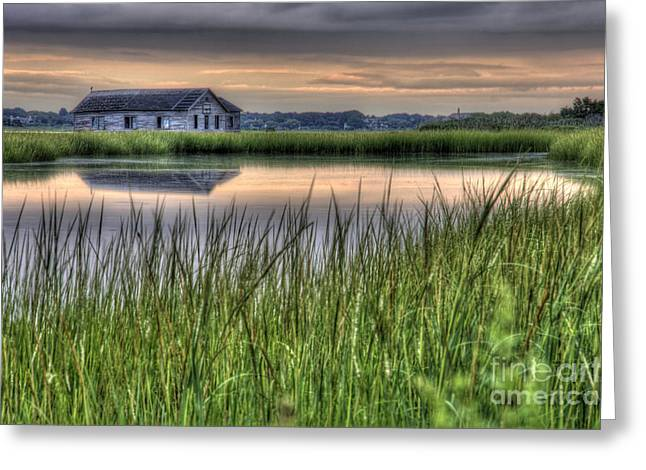 The Old Boathouse Greeting Card by Marie Barcia