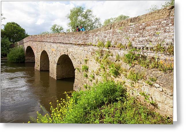 The Old Bridge Across The River Avon Greeting Card