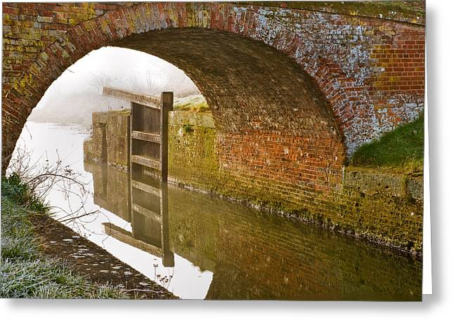 Greeting Card featuring the photograph The Old Bridge And Lock Gates by Trevor Chriss