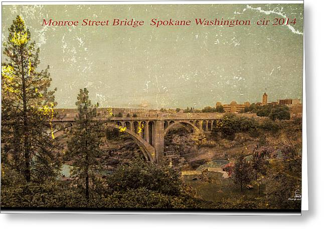 The Old Bridge Greeting Card by Dan Quam