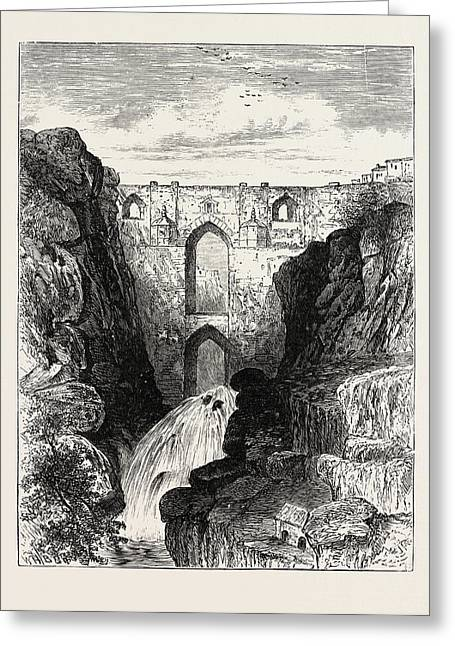 The Old Bridge Of Ronda Headquarters Of The Andalusian Greeting Card